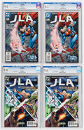 Modern Age (1980-Present):Superhero, JLA CGC-Graded Group (DC, 2004) White pages.... (Total: 8 ComicBooks)
