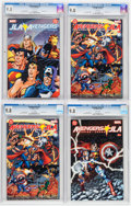 Modern Age (1980-Present):Superhero, Avengers/JLA CGC-Graded Group (DC/Marvel, 2003-04) CGC NM/MT 9.8White pages.... (Total: 4 Items)