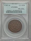 1767-A 12DEN French Colonies 12 Deniers VF20 PCGS. PCGS Population (0/0). NGC Census: (0/0). ...(PCGS# 158621)
