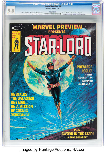 Marvel Preview #4 Star-Lord (Marvel, 1976) CGC NM/MT 9.8 White pages....