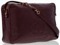 Luxury Accessories:Bags, Chanel Burgundy Caviar Leather Shoulder Bag with Gold Hardware ....