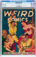 Golden Age (1938-1955):Horror, Weird Comics #4 (Fox Features Syndicate, 1940) CGC VG 4.0 Off-whiteto white pages....