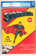 Golden Age (1938-1955):Superhero, Superman #2 (DC, 1939) CGC FN/VF 7.0 Cream to off-white pages....