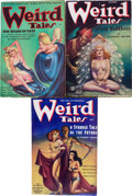 Pulps:Horror, Weird Tales Group (Popular Fiction, 1936-38) Condition: AverageFN-.... (Total: 3 Items)
