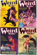 Pulps:Horror, Weird Tales Group (Popular Fiction, 1935) Condition: AverageFN-.... (Total: 4 Comic Books)