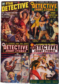 Assorted Detective Pulps Group (Miscellaneous Publishers, 1938-39) Condition: Average VG+.... (Total: 4 Comic Books)