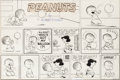 Original Comic Art:Comic Strip Art, Charles Schulz Peanuts Sunday Comic Strip Lucy and Linus Original Art dated 11-28-54 (United Features Syndicate, 1...