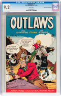 Golden Age (1938-1955):Western, Outlaws #1 Mile High pedigree (D.S. Publishing, 1948) CGC NM- 9.2White pages....