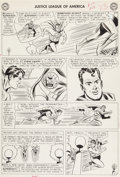 "Original Comic Art:Panel Pages, Mike Sekowsky and Bernard Sachs Justice League of America#13 ""The Riddle of the Robot Justice League!"" Page 21 Or..."
