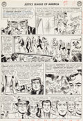 "Original Comic Art:Panel Pages, Mike Sekowsky and Bernard Sachs Justice League of America#19 ""The Super-Exiles of Earth!"" Page 11 Original Art (D..."