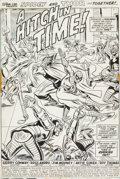 Original Comic Art:Splash Pages, Ross Andru and Jim Mooney Marvel Team-Up #7 Spider-Man andThor Splash Page 1 Original Art (Marvel, 1973)....