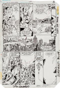 "Original Comic Art:Panel Pages, George Perez and Dick Giordano Crisis On Infinite Earths #1""The Summoning"" Page 5 Original Art (DC, 1985)...."