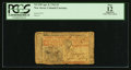 Colonial Notes:New Jersey, New Jersey April 8, 1762 £3 PCGS Apparent Fine 12.. ...