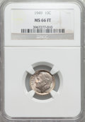 Roosevelt Dimes: , 1949 10C MS66 Full Bands NGC. NGC Census: (37/11). PCGS Population (49/13). Mintage: 30,940,000. Numismedia Wsl. Price for ...