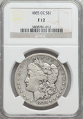 1885-CC $1 Fine 12 NGC. NGC Census: (9/9803). PCGS Population (14/19474). Mintage: 228,000. Numismedia Wsl. Price for pr...