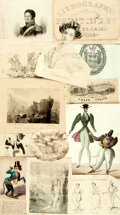 Miscellaneous:Ephemera, [Ephemera]. Twelve Piece Collection of 19th Century Ephemera.Various publishers and dates. ...