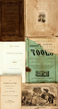Books:Non-fiction, [Ephemera]. Six Piece Collection of 19th Century Ephemera. Various publishers and dates.... (Total: 5 Items)