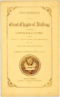 Books:Americana & American History, Alabama: PROCEEDINGS OF THE GRAND CHAPTER OF ALABAMA ALSO, OF THEG. COUNCIL OF R. & S. MASTERS; AT THEIR ANNUAL CONVOCATIO...