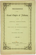 Books:Americana & American History, Alabama: PROCEEDINGS OF THE GRAND CHAPTER OF ALABAMA, AT THE ANNUALCONVOCATION, HELD IN THE CITY OF MONTGOMERY, COMMENCING ...