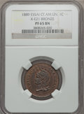 Central American Union: Confederation Proof Essai Centavo 1889 in bronze PR65 Brown NGC