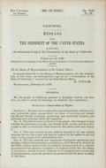 Books:Americana & American History, California: MESSAGE OF THE PRESIDENT OF THE UNITED STATES,TRANSMITTING AN AUTHENTICATED COPY OF THE CONSTITUTION OF THESTA...