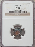 Proof Barber Dimes: , 1900 10C PR67 NGC. NGC Census: (17/6). PCGS Population (10/1). Mintage: 912. Numismedia Wsl. Price for problem free NGC/PCG...