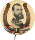 Political:Pinback Buttons (1896-present), Charles Evans Hughes: One of the Rarest 1 ¼-inch Portrait ButtonDesigns....
