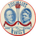 Political:Pinback Buttons (1896-present), Debs & Seidel: Rare and Colorful 1 ½-inch 1912 Jugate Buttonfor these Socialist Candidates....