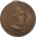 Political:Tokens & Medals, Greeley/Brown: Rare Hollow Shell Badge....