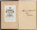 Autographs:Others, 1839 Alexander Cartwright Signed Book--Earliest Known Cartwright Autograph!...