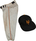 Baseball Collectibles:Uniforms, 1952 Willie Mays Game Worn New York Giants Pants & Cap....