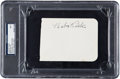Autographs:Others, 1930's Babe Ruth Signed Album Page, PSA/DNA NM 7....