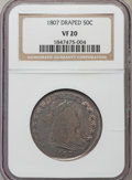 Early Half Dollars: , 1807 50C Draped Bust VF20 NGC. NGC Census: (43/572). PCGSPopulation (130/881). Mintage: 301,076. Numismedia Wsl. Pricefor...