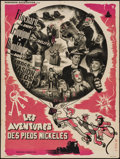 """Movie Posters:Foreign, Les Aventures des Pieds-Nickeles (Pantheon, 1948). French Affiche (23.25"""" X 31""""). Foreign.. ..."""