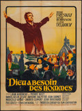 "Movie Posters:Foreign, God Needs Men (20th Century Fox, 1950). French Grande (46"" X 63""). Foreign.. ..."