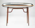 Post-War & Contemporary:Minimalismk, SA RINA (Chinese, 20th century). Table, 2011. Walnut,stainless steel. 36 x 41 x 15 inches (91.4 x 104.1 x 38.1 cm). ...