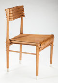 Furniture, JEFF DAYU SHI (Chinese, 20th century). Chair Qin Jian, 2010. Bamboo, fabric sabots. 54-1/2 x 45 x 85 inches (138.4 x 114...