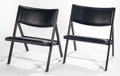 Post-War & Contemporary:Minimalismk, GIO PONTI (Italian, 1891-1979). Chair of Little Seat (pairof prototypes), circa 1960. Lacquered wood and leather. 2...(Total: 2 Items)
