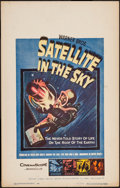 "Movie Posters:Science Fiction, Satellite in the Sky (Warner Brothers, 1956). Window Card (14"" X 22""). Science Fiction.. ..."