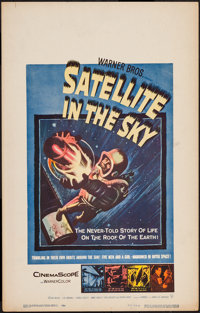 "Satellite in the Sky (Warner Brothers, 1956). Window Card (14"" X 22""). Science Fiction"