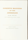 Books:Americana & American History, James E. Mooney, introduction. SIGNED. Mrs. [Frances] Trollope.Domestic Manners of the Americans. Barre: Imprint So...