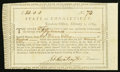 Colonial Notes:Connecticut, Connecticut Treasury Certificate £50 February 1, 1789 Anderson CT-26 Very Fine, CC.. ...