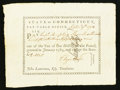 Colonial Notes:Connecticut, Connecticut Pay Table Office £2.15s September 9, 1784 VeryFine-Extremely Fine.. ...