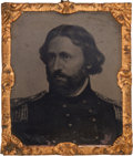 Political:Ferrotypes / Photo Badges (pre-1896), John C. Fremont: Large Tintype with Portrait Used on 1864 CampaignItems....