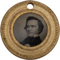 Political:Ferrotypes / Photo Badges (pre-1896), Breckenridge & Lane: Very Choice Tiny 1860 Ferrotype....