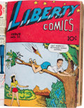 Golden Age (1938-1955):Miscellaneous, Comic Books - Assorted Golden Age Comics Bound Volume (Various Publishers, 1940s)....