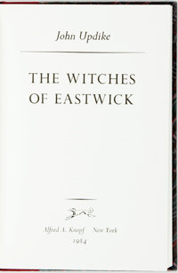 John Updike. SIGNED/LIMITED. The Witches of Eastwick. New York: Knopf, 1984. First edition, lim