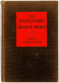 Books:Mystery & Detective Fiction, Ellery Queen, editor. The Misadventures of Sherlock Holmes.Boston: Little, Brown, 1944. First edition. Original clo...