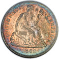 Seated Dimes, 1860-O 10C MS64 NGC. CAC. Fortin-101, High R.7 in Mint State....
