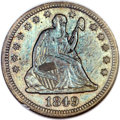 Seated Quarters, 1849-O 25C MS64 NGC. Briggs 1-A....